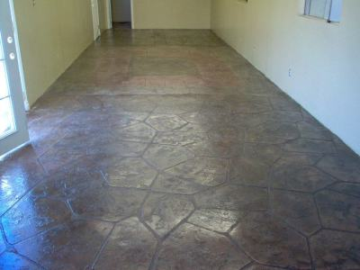 Interior stamp concrete